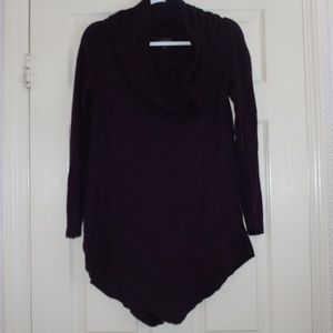 Purple Cowl Neck Sweater